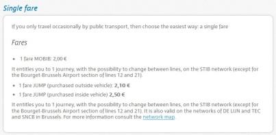 Bilet standard (one way) - 2,10 euro