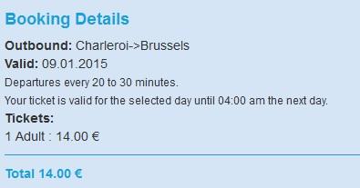 Shuttle Bus_ Charleroi_Bruxelles