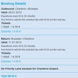 Shuttle Bus_ Charleroi_Bruxelles_return
