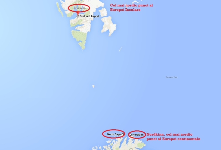 Cel mai nordic punct al Europei continentale este Nordkinn, iar cel mai nordic punct al Europei insulare este insula Svalbard