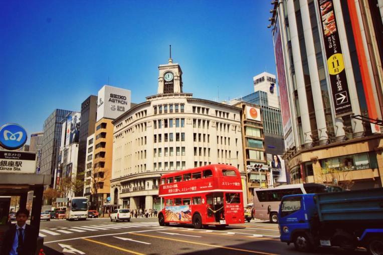Zona de shopping Ginza