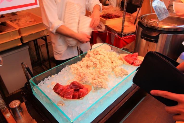 Sashimi de ton si creier de peste