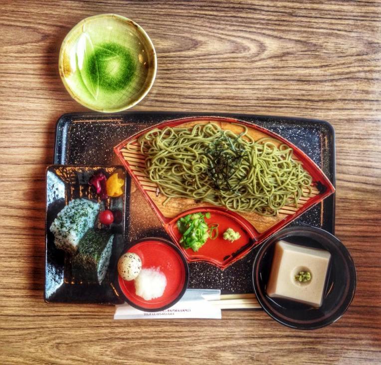 Noodlesi verzi in Arashiyama, Kyoto