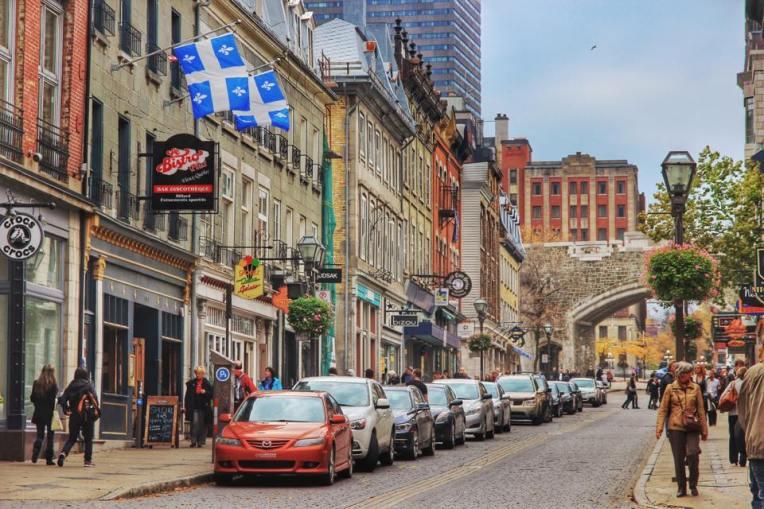 Strazile din centru vechi al Quebecului