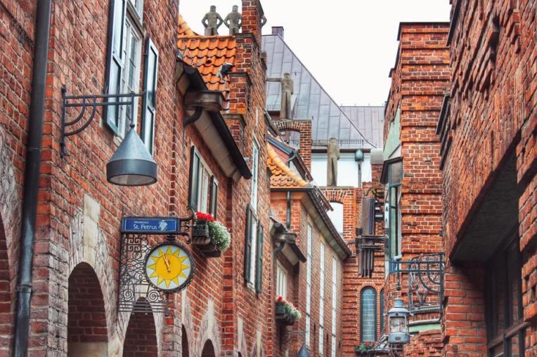 Cladiri pe Bottcherstrasse