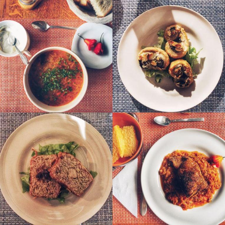 O parte din bunataturile de la pranz si cina