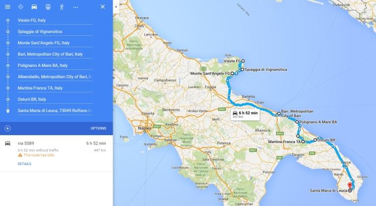 Traseu Apulia
