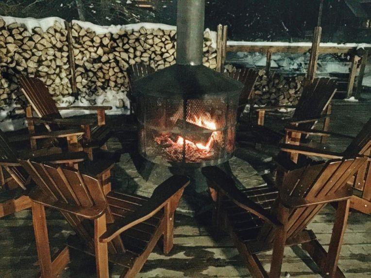 Zona de relaxare la focuri