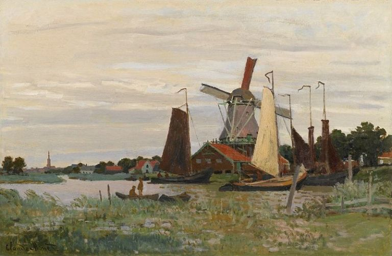 Monet_Claude_A_Windmill_at_Zaandam