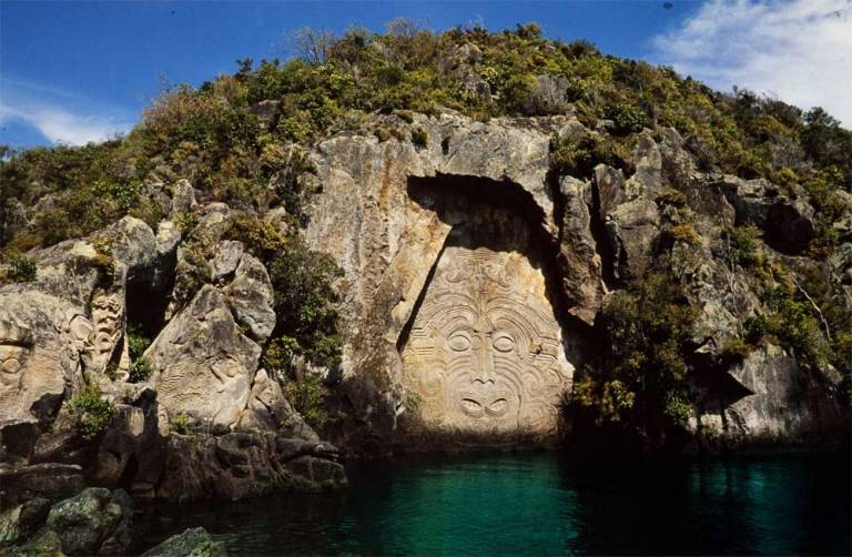 Maori Sculpture at Lake Taupo