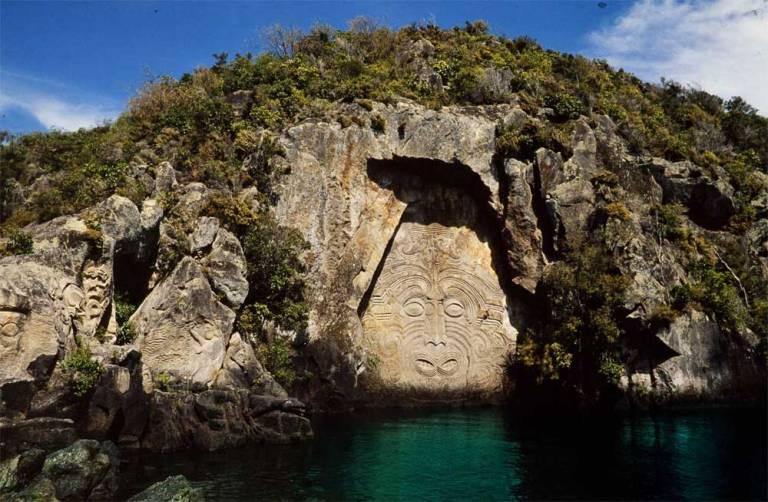 Maori Sculpture at Lake Taupo