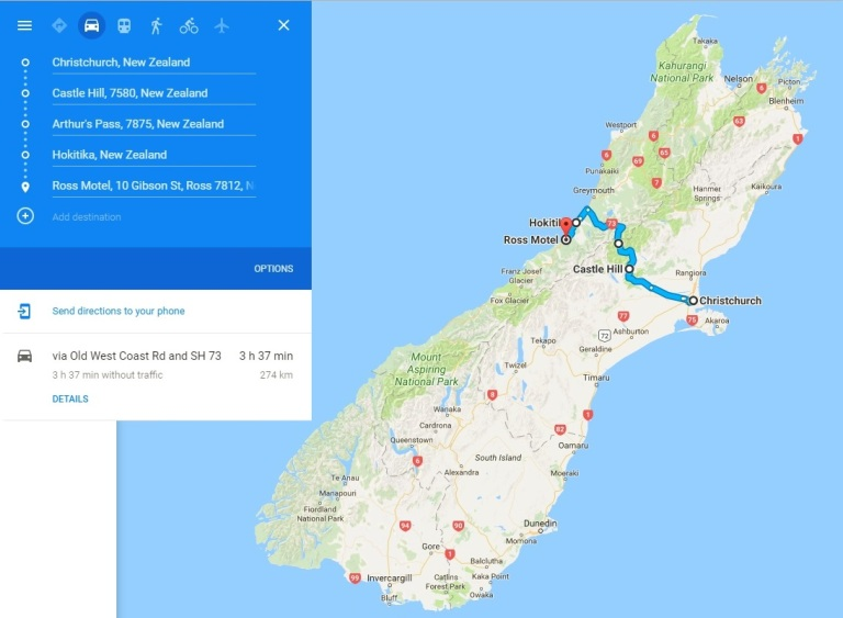 Day 3 - Map - Christchurch and Canterburry