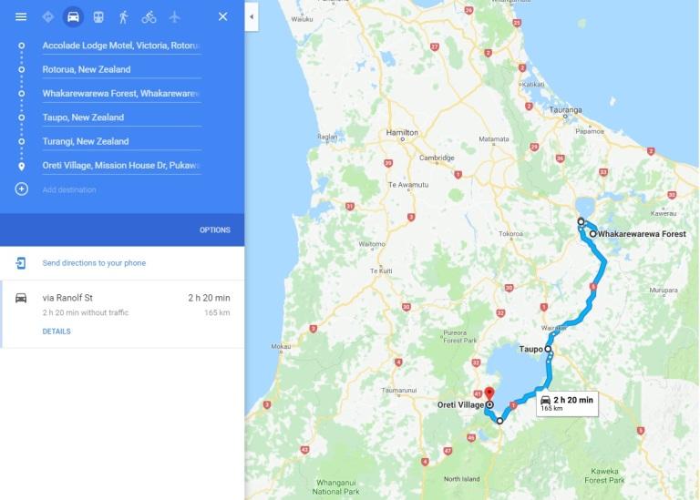 Day 12 - Map - Rotorua si Taupo