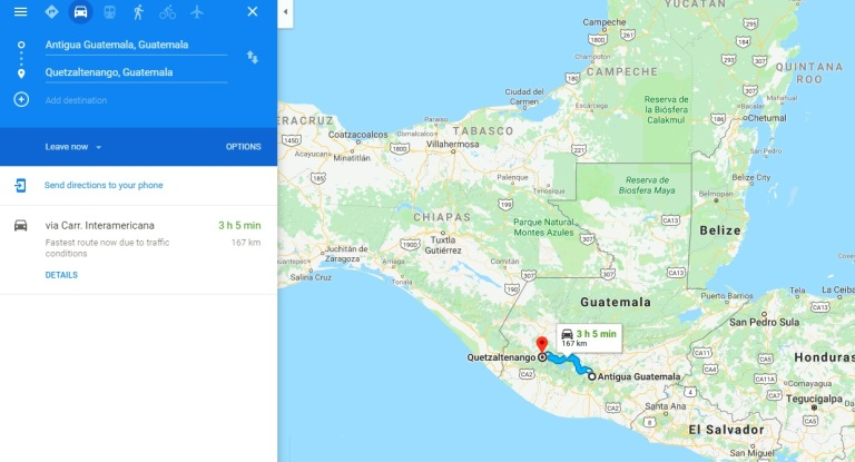 Antigua to Xela