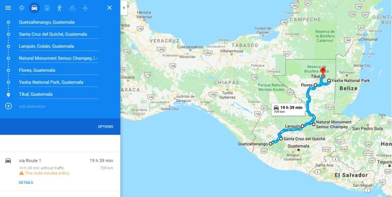 Traseu Guatemala