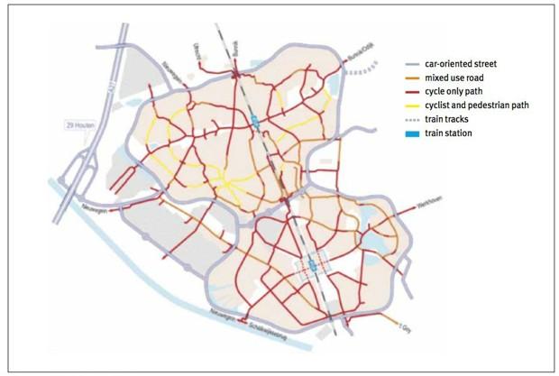 Harta drumuri Houten